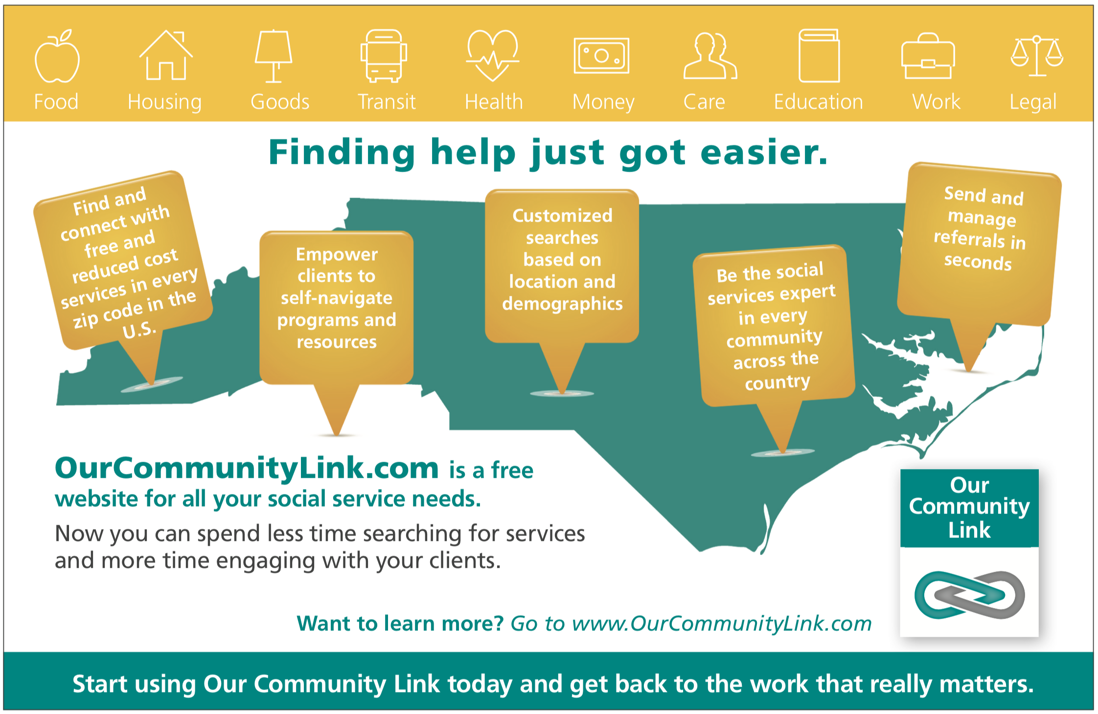 OurCommunityLink Infographic