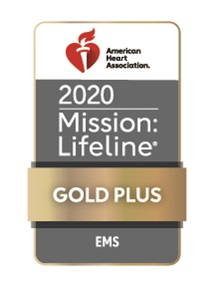 2020 AHA Mission Lifeline EMS PLUS Gold Logo