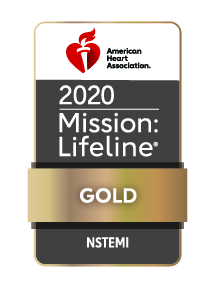 2020 AHA Mission Lifeline NSTEMI Gold Logo