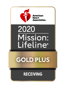 2020 AHA Mission Lifeline RECEIVING PLUS Gold Logo