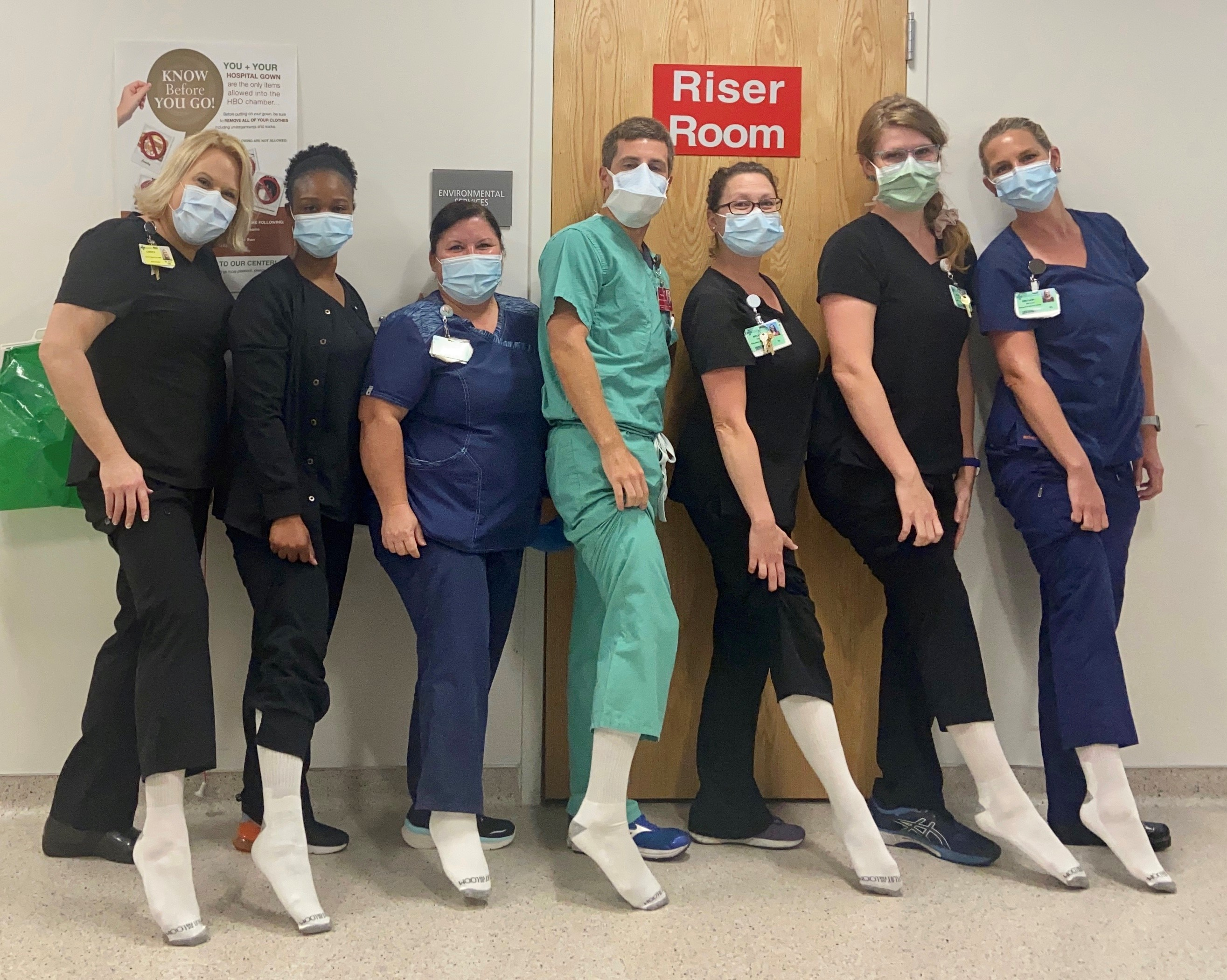 NHRMC Wound Care Staff White Socks