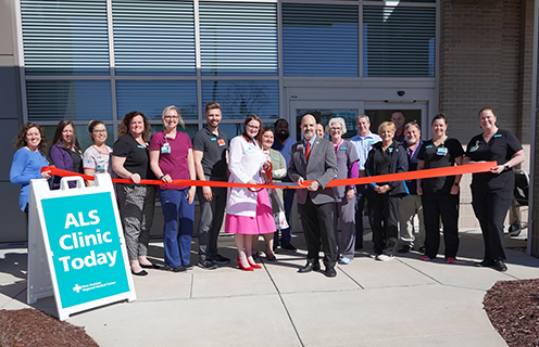 ALS Clinic ribbon cutting