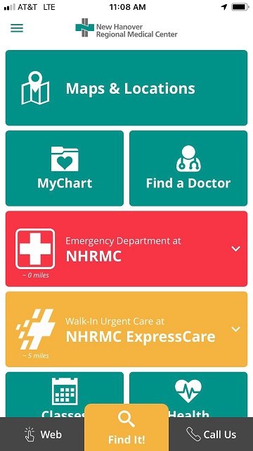 Nhrmc Smartphone App To Help Patients And Visitors With Wayfinding And More New Hanover Regional Medical Center Wilmington Nc