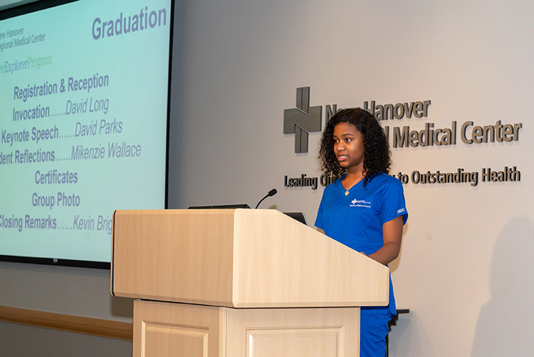 Healthcare Explorers Mikenzie Wallace