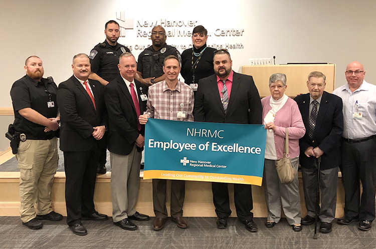 Detective Timothy Fisher Named February Employee Of Excellence New Hanover Regional Medical Center Wilmington Nc